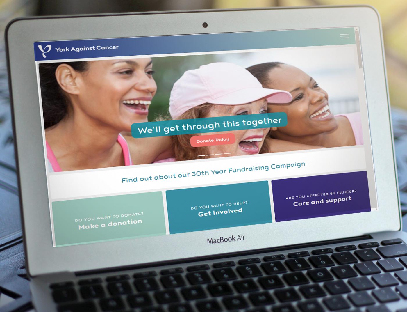 YAC Website On Laptop