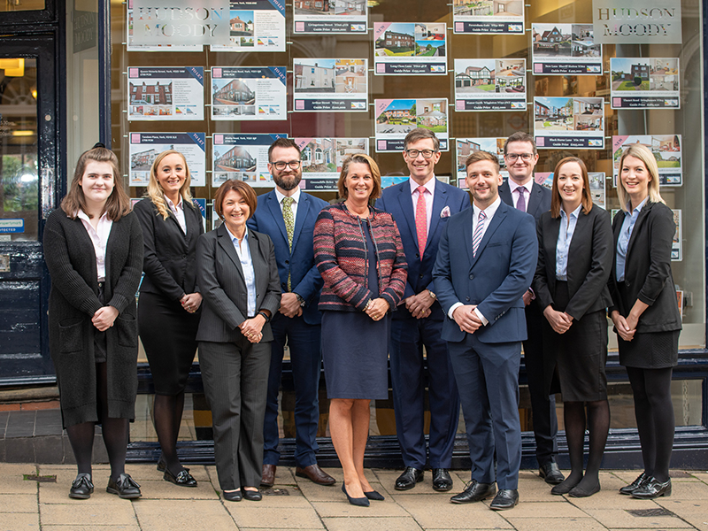 Hudson Moody team outside of the Micklegate office
