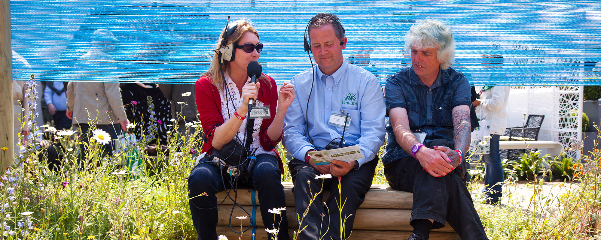 BBC interview with Lindum Turf at Chelsea Flower Show
