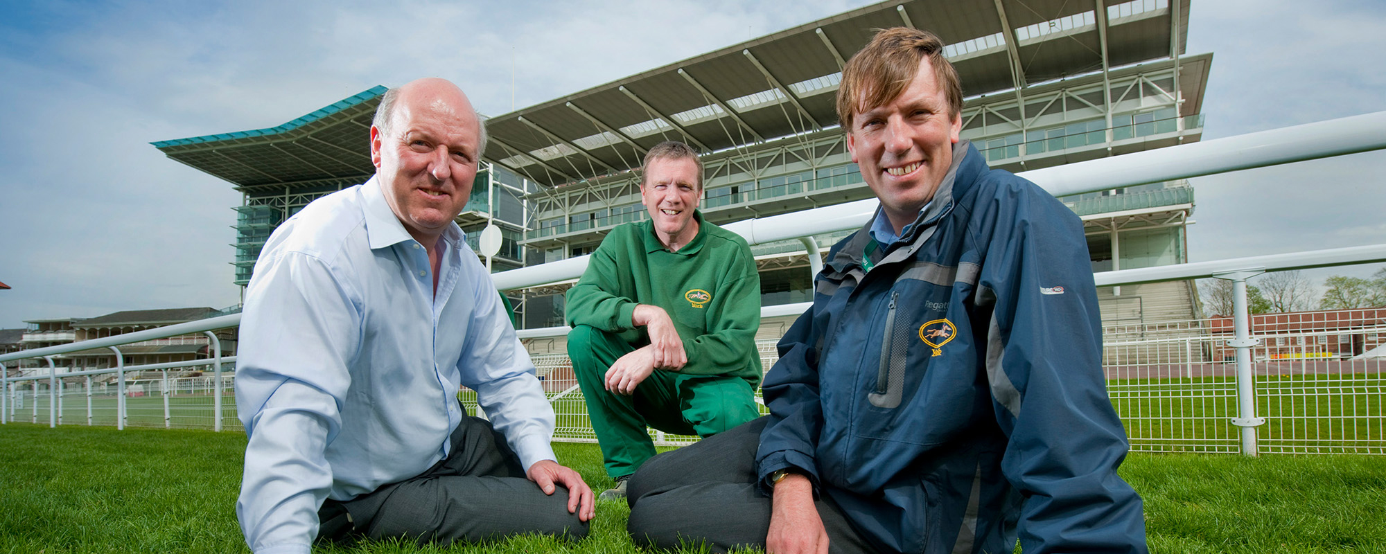 Stephen Fell at York Racecourse with York Racecourse team