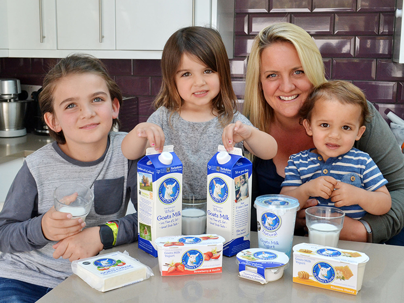 Family with St Helen's Farm products