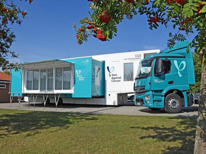 York Against Cancer mobile chemotherapy unit